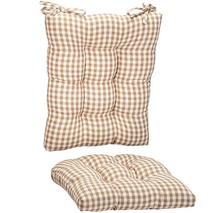 Gingham Rocker Cushion Set-367472