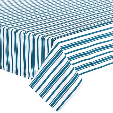 William Roberts Blue Stripe Tablecloth-367567