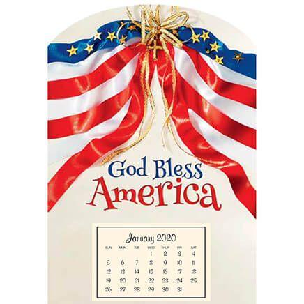 Mini Magnetic God Bless America Calendar-367573