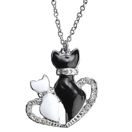 Kittens in Heart Necklace with Magnetic Clasp-367582
