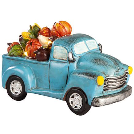 Resin Harvest Blue Truck with Lights by Fox River Creations™-367587