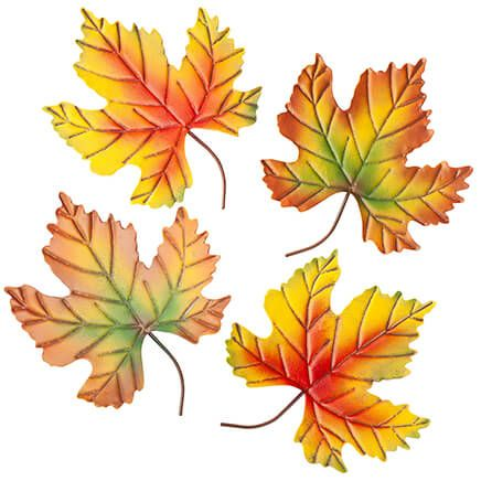 Metal Fall Leaves, Set of 4 by Fox River Creations™-367597