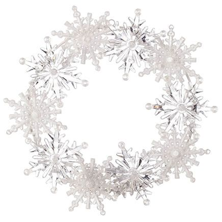Color-Changing Snowflake Wreath-367622
