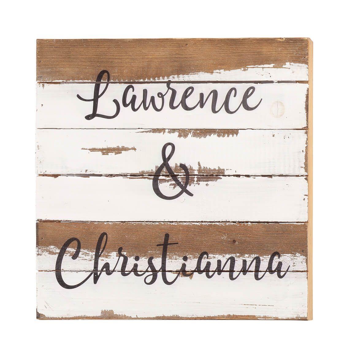 Custom Names Reclaimed Wood Sign by Sweet Bird & Co.-367664