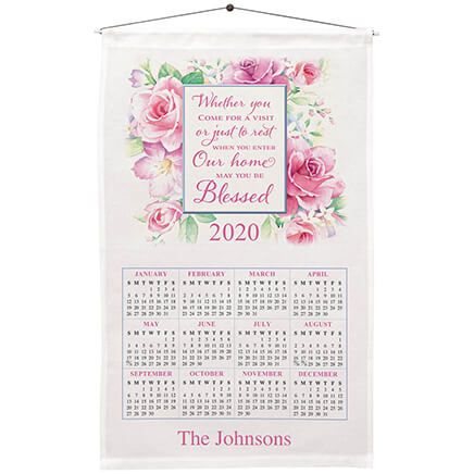 Personalized Blessed Roses Calendar Towel-367669