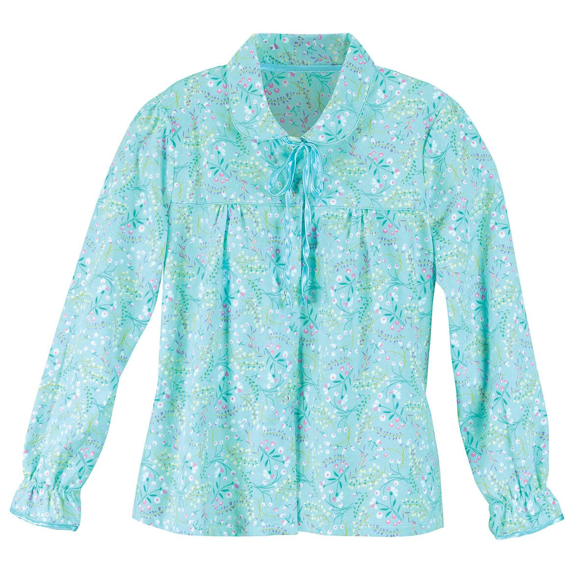 Floral Flannel Bed Jacket by Sawyer Creek-367671