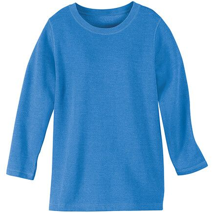 Blue Fleece Knit Pullover Top by Sawyer Creek-367742