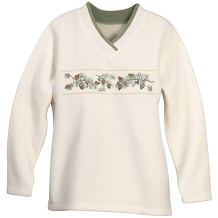 Fleece Top with Pinecones-368018