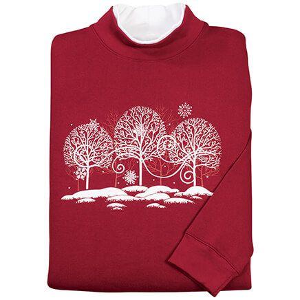 White Trees with Swirls Sweatshirt-368023