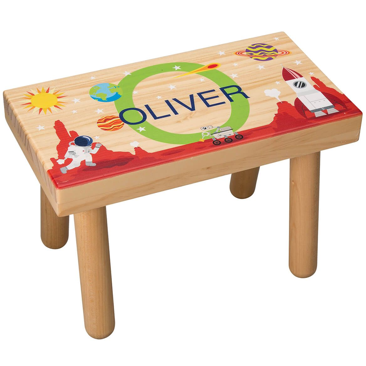 Personalized Space-Themed Children's Step Stool-368056