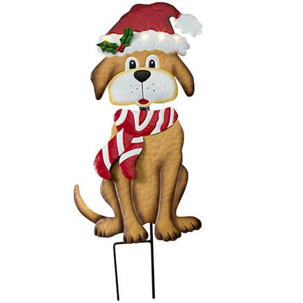 Solar Christmas Dog Stake by Fox River™ Creations-368062
