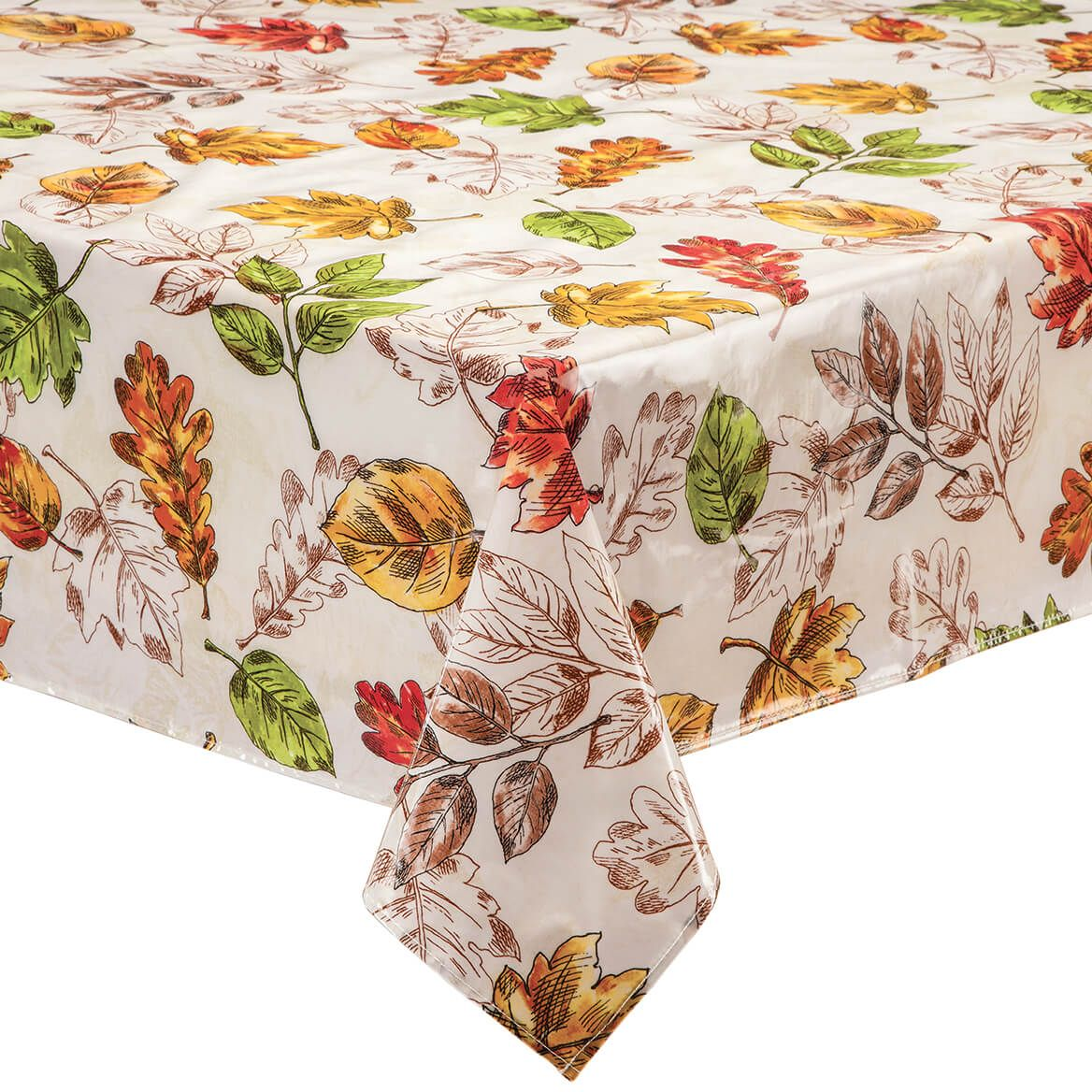 Pressed Leaves Oilcloth Tablecloth-368074