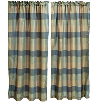 Theo Plaid Window Panel-368131