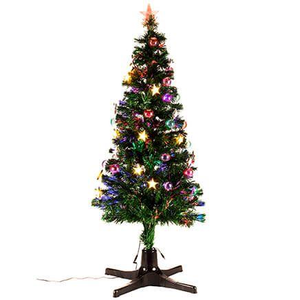 5' Spinning Fiber Optic Tree by Holiday Peak™-368147