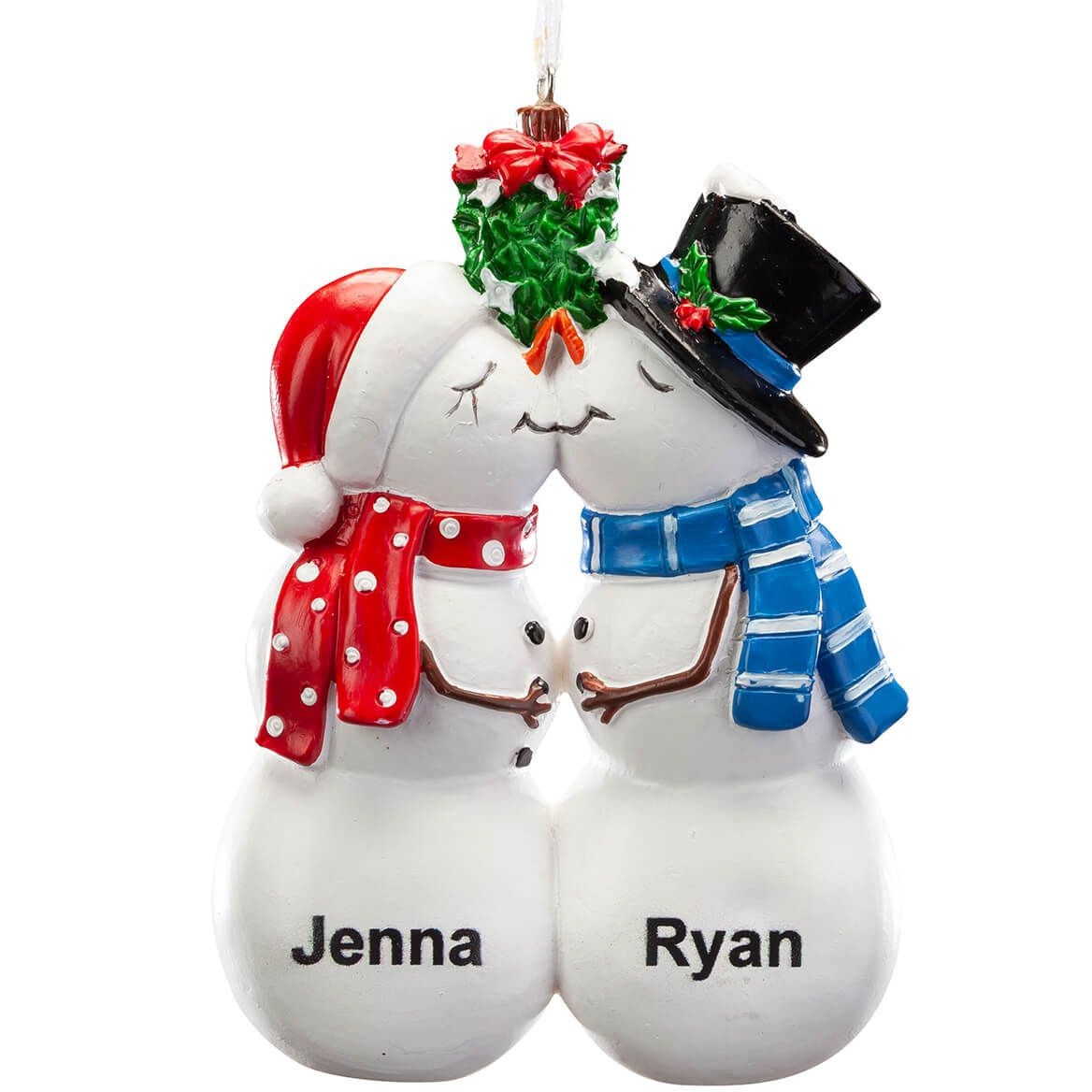 Personalized Kissing Snow Couple Ornament-368175