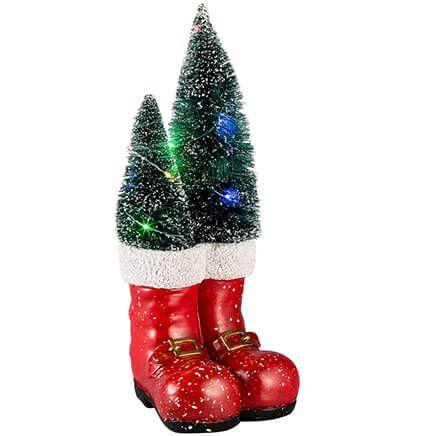 Metal Santa Boots Wall Hanging Christmas Home Decor Sign 10/' NWT