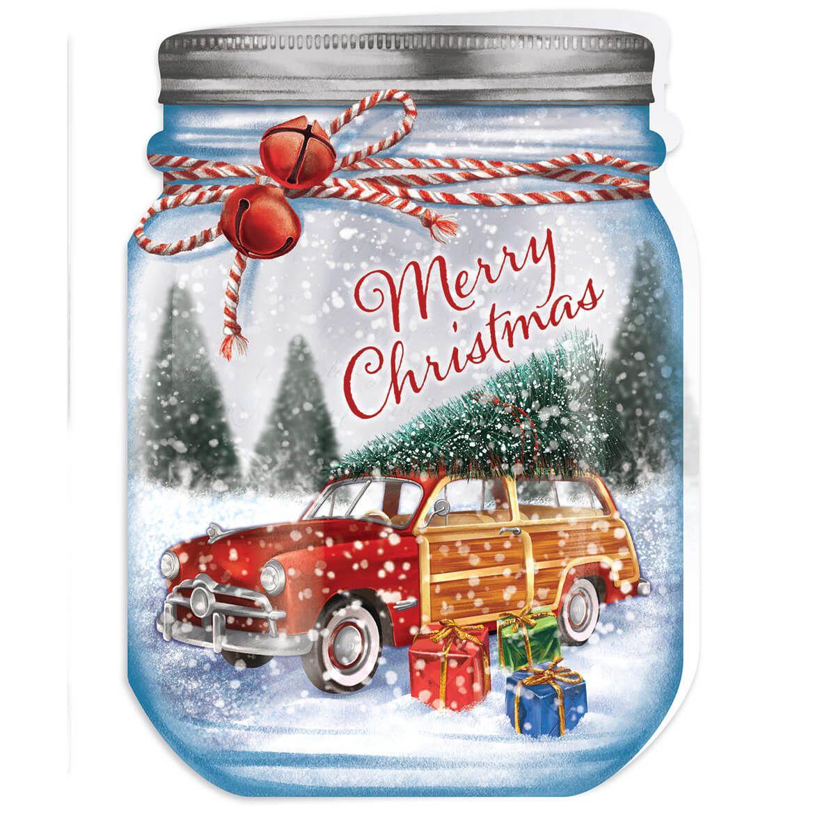 Personalized Merry Mason Jar Christmas Card Set of 20-368226