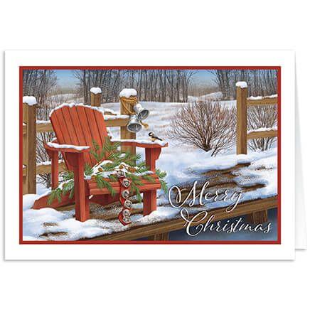 Personalized Adirondak Chair Christmas Card Set of 20-368230