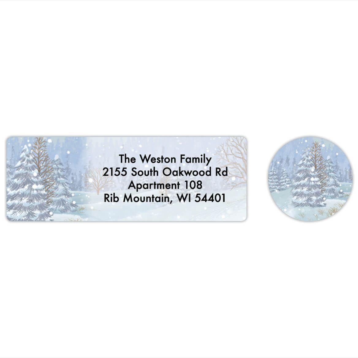 Personalized Four Seasons Calendar Labels & Envelope Seals 20-368267