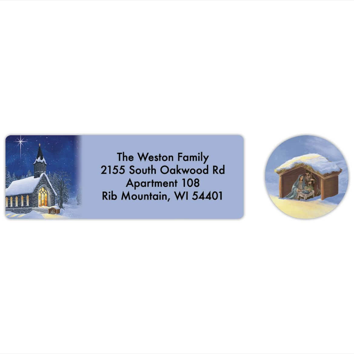 Personalized Midnight Chapel Labels & Envelope Seals 20-368276