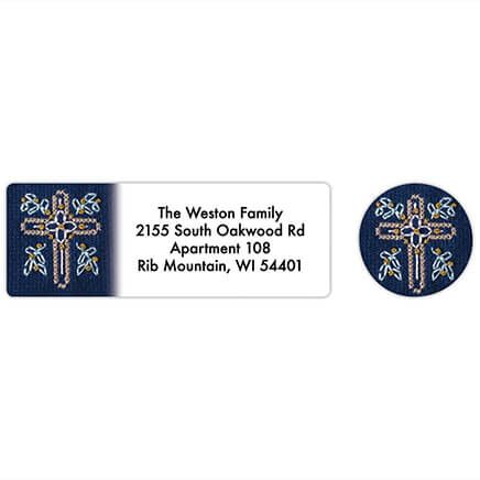 Personalized Cross Stitch Cross Labels & Seals 20-368279