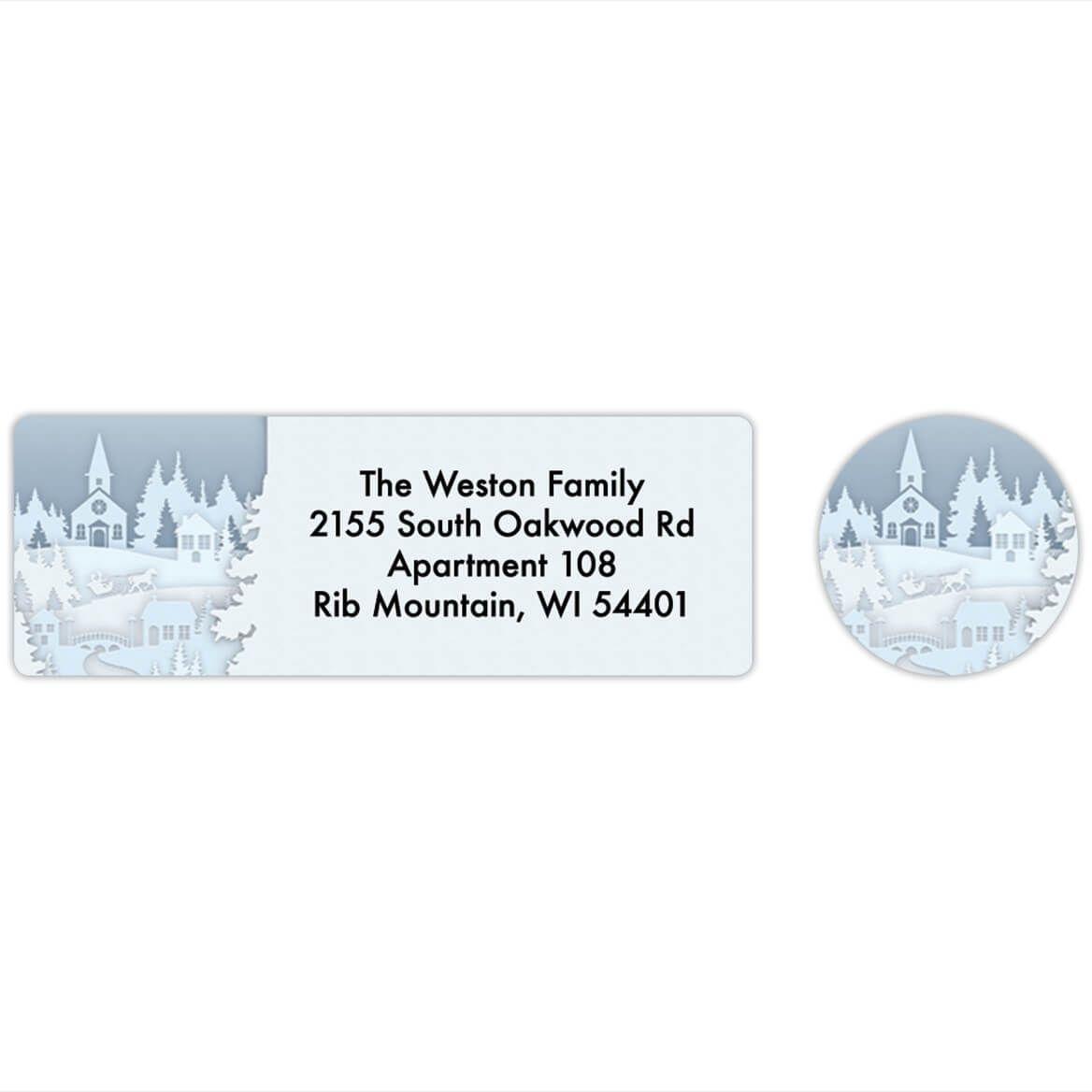 Papercut Collage Labels & Envelope Seals Set of 20-368282