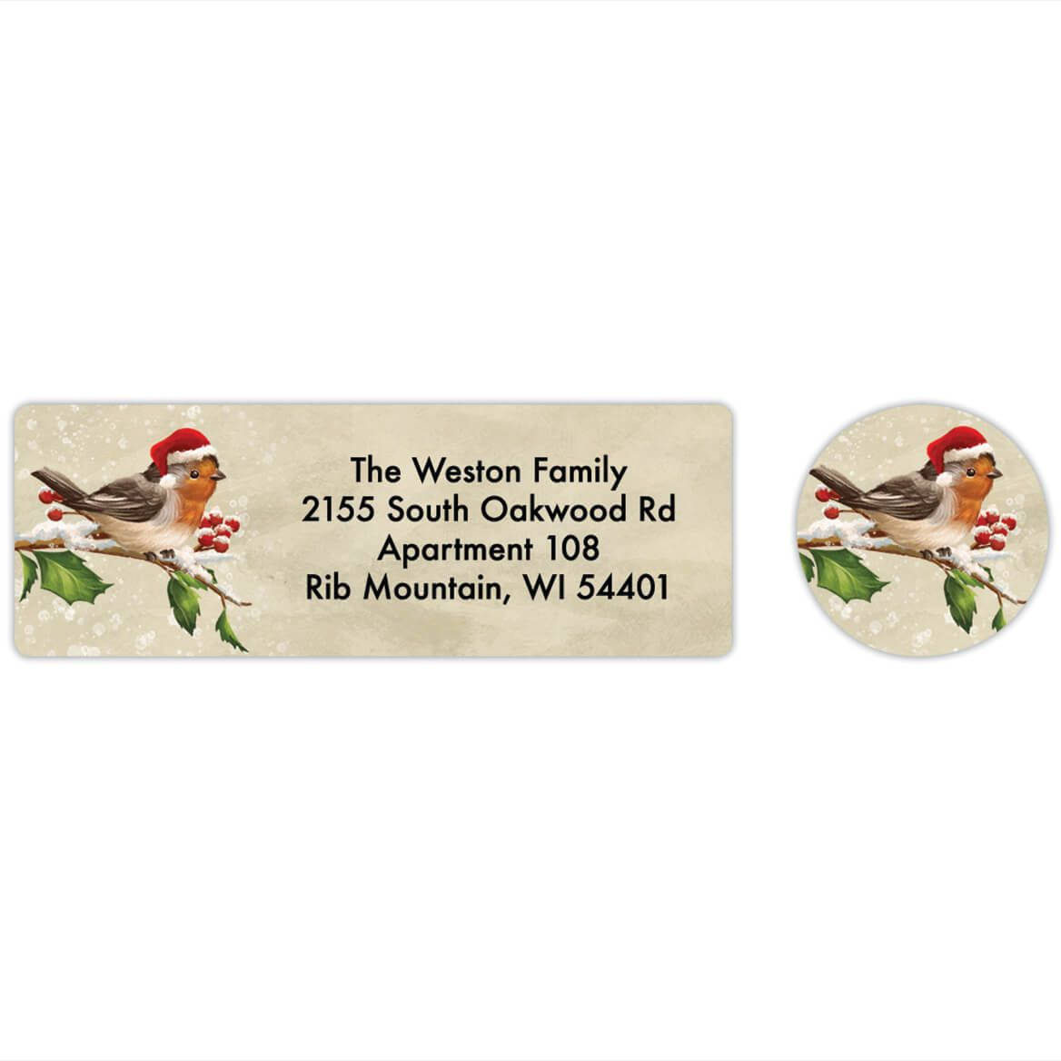 Personalized Birds with Hats Labels & Envelope Seals 20-368285