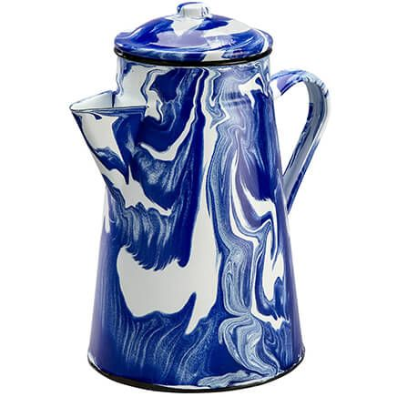 Blue Marble Enamelware Coffeepot by Home Marketplace-368314