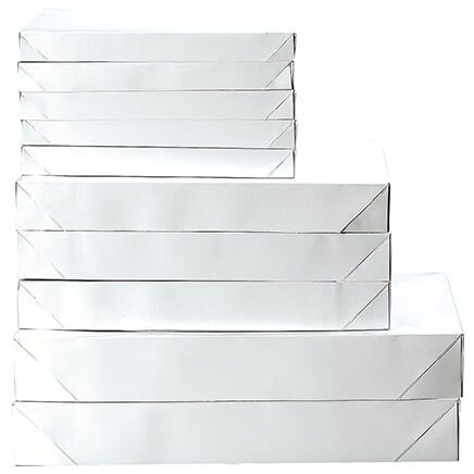 White Gift Boxes, Set of 10-368345
