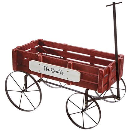 Personalized Red Wagon Planter-368386