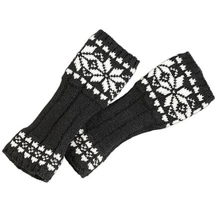 Snowflake Fingerless Gloves-368395