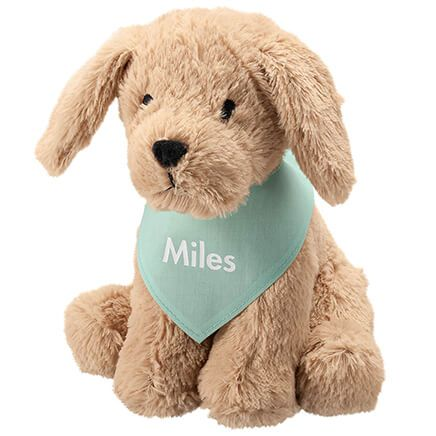 Personalized Stuffed Dog with Bandana-368400