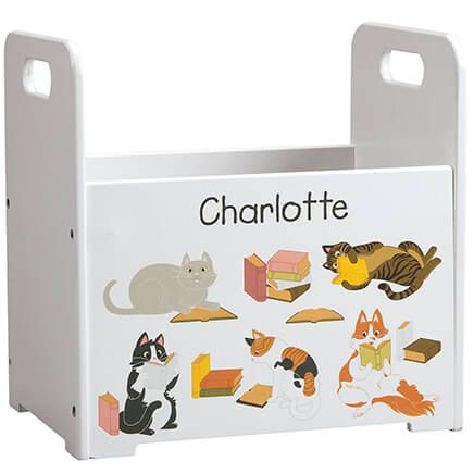 Personalized Reading Cats Book Caddy-368439