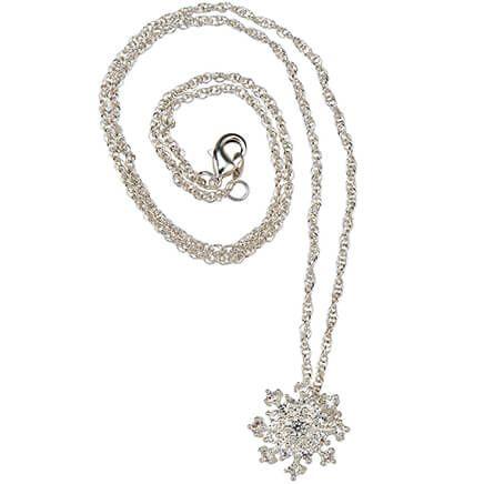 CZ Snowflake Pendant-368484