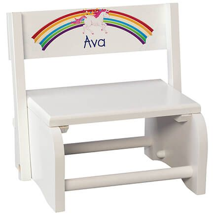 Personalized Children's Unicorn Step Stool-368488