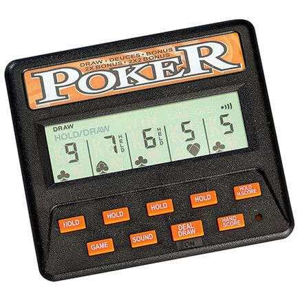 Classic 5-in-1 Poker Handheld Game-368510