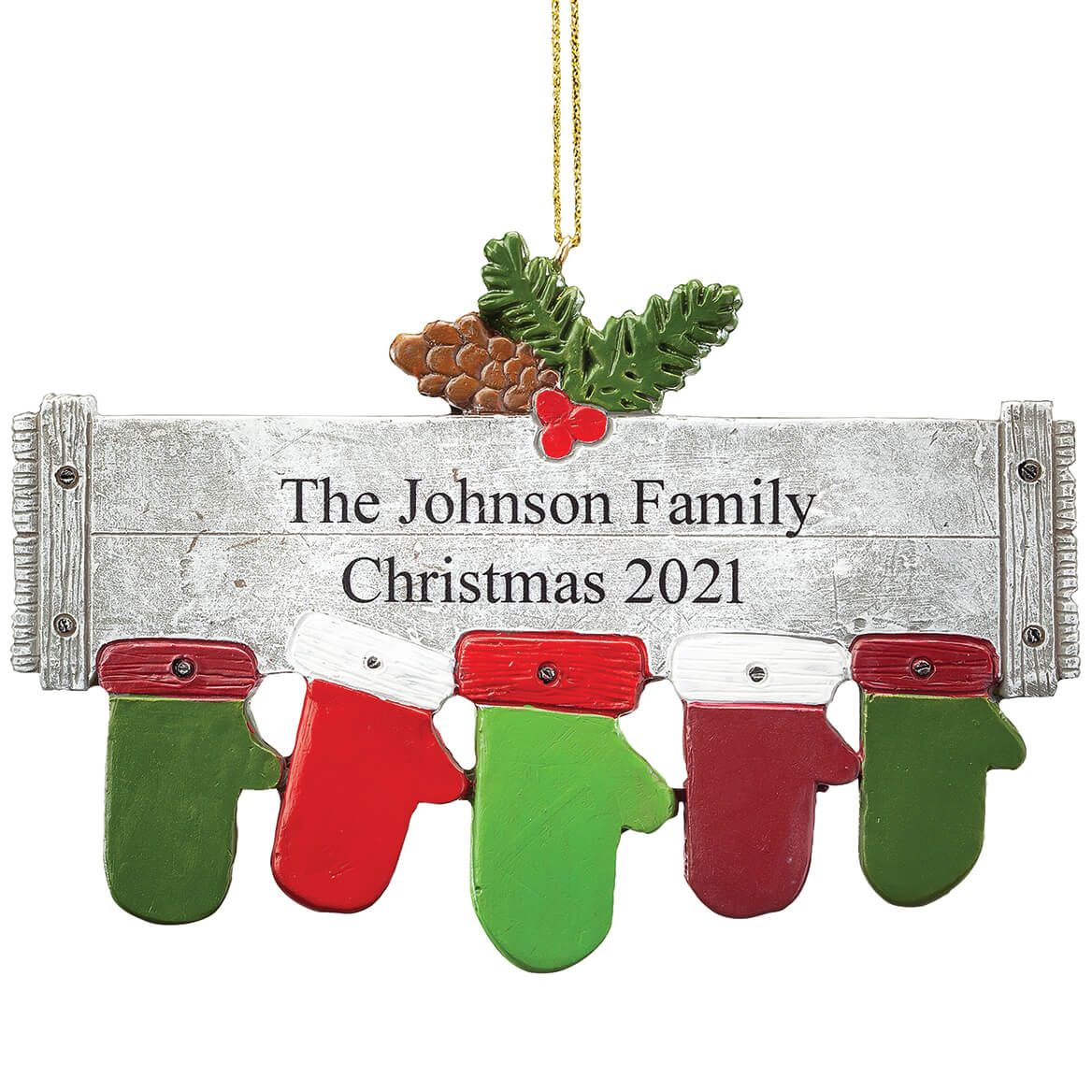 Personalized Family Mittens Ornament-368539