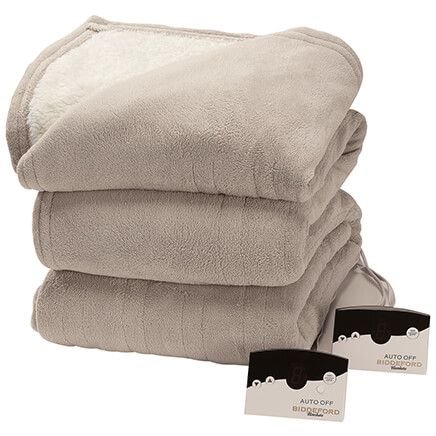 OakRidge™ Micro Plush & Sherpa Heated Blanket-368540