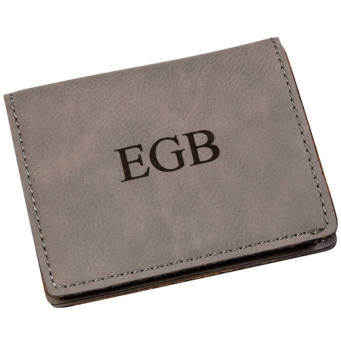 Personalized Gray Wallet-368572