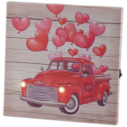 Mini Red Truck Valentine Canvas by Holiday Peak™-368718