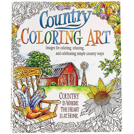 Country Coloring Art Book-368758
