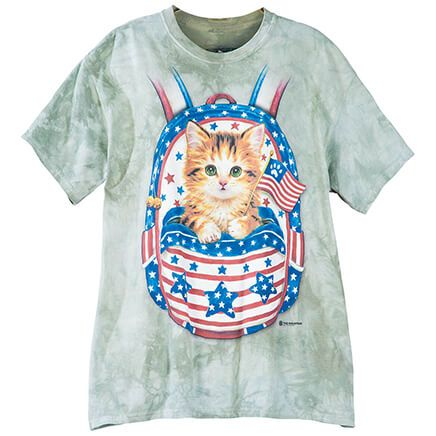 Patriotic Kitten BackPack T-Shirt-368820