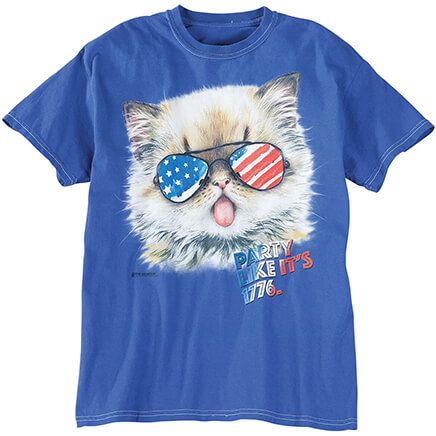 Patriotic Party Kitten T-Shirt-368821