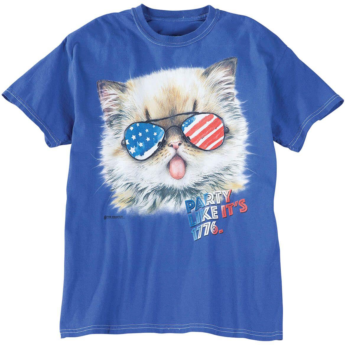 Patriotic Party Kitten T-Shirt-368821