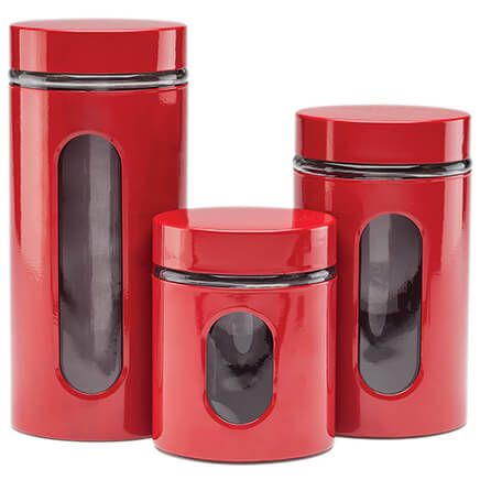 3 Piece Metal Food Canister Set by Home Marketplace-368846