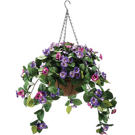 Fully Assembeld Pansy Hanging Basket by OakRidge™-368881