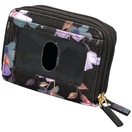 Buxton® RFID Black Floral Accordion Wallet-368890