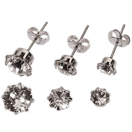 Crystal Colors Swarovski Prong Earring Set of 3-368894