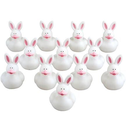 Easter Bunny Rubber Duckies, Set of 12-368947