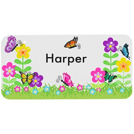"Personalized Flowers License Plate, 3"" x 6""-368975"